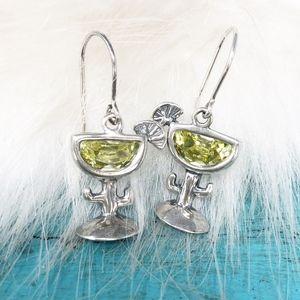 Silpada Margarita Cactus Glass CZ Earrings W1003